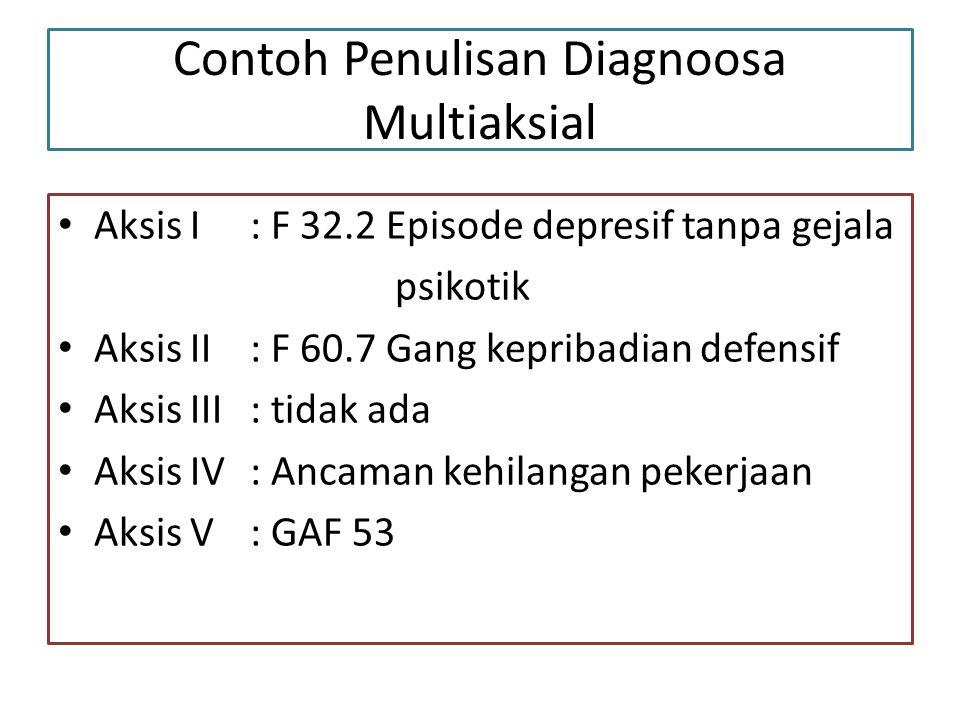 Contoh Penulisan Diagnoosa Multiaksial