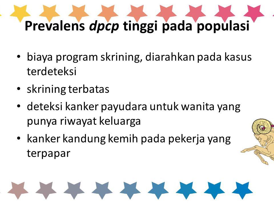 Prevalens dpcp tinggi pada populasi