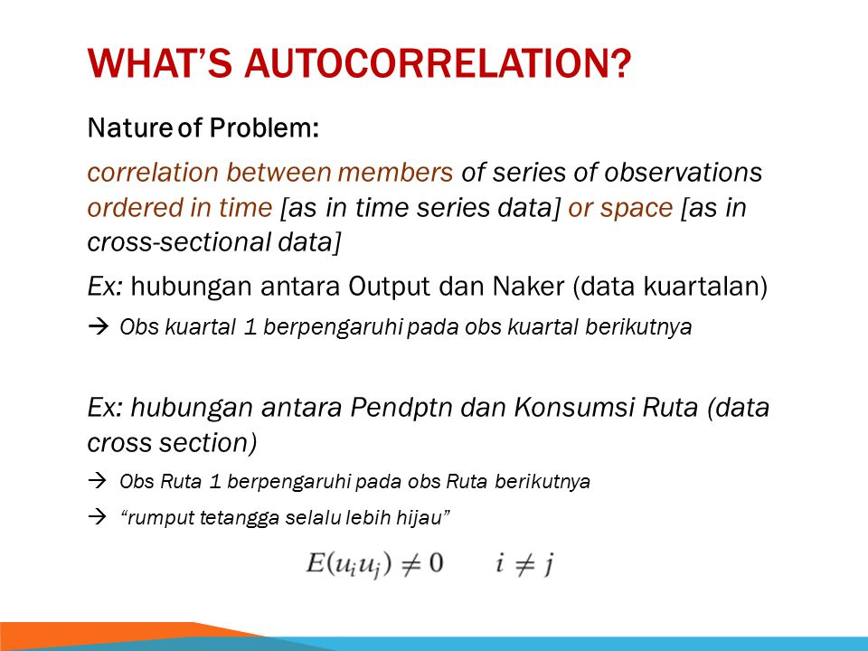 What's autocorrelation