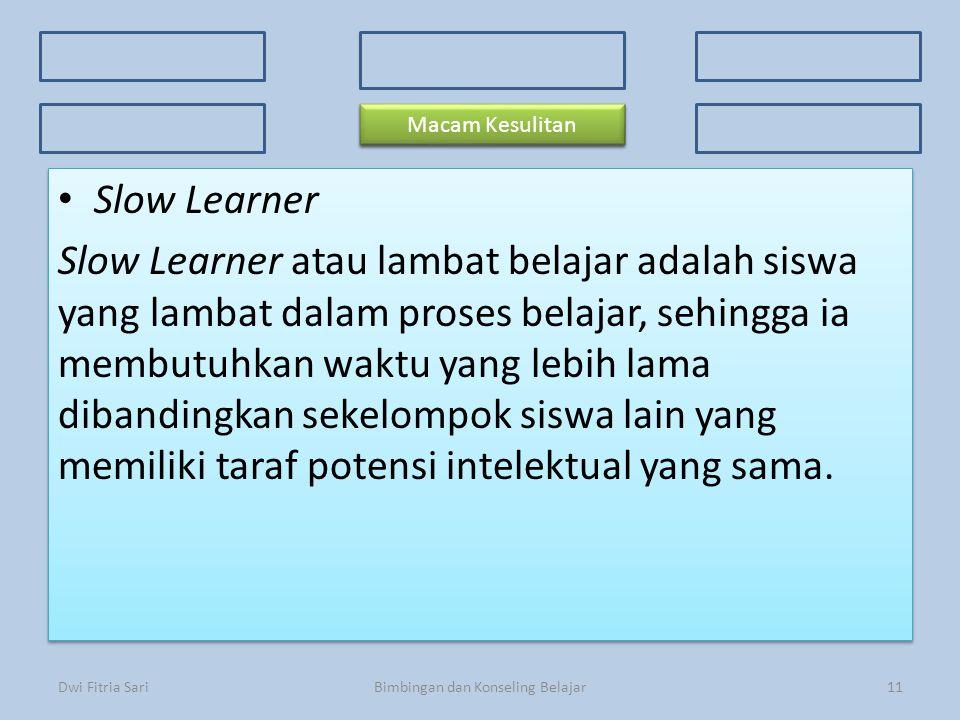 Bimbingan dan Konseling Belajar