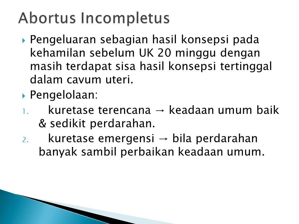 Abortus Incompletus