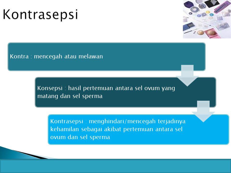Kontrasepsi Kontra : mencegah atau melawan