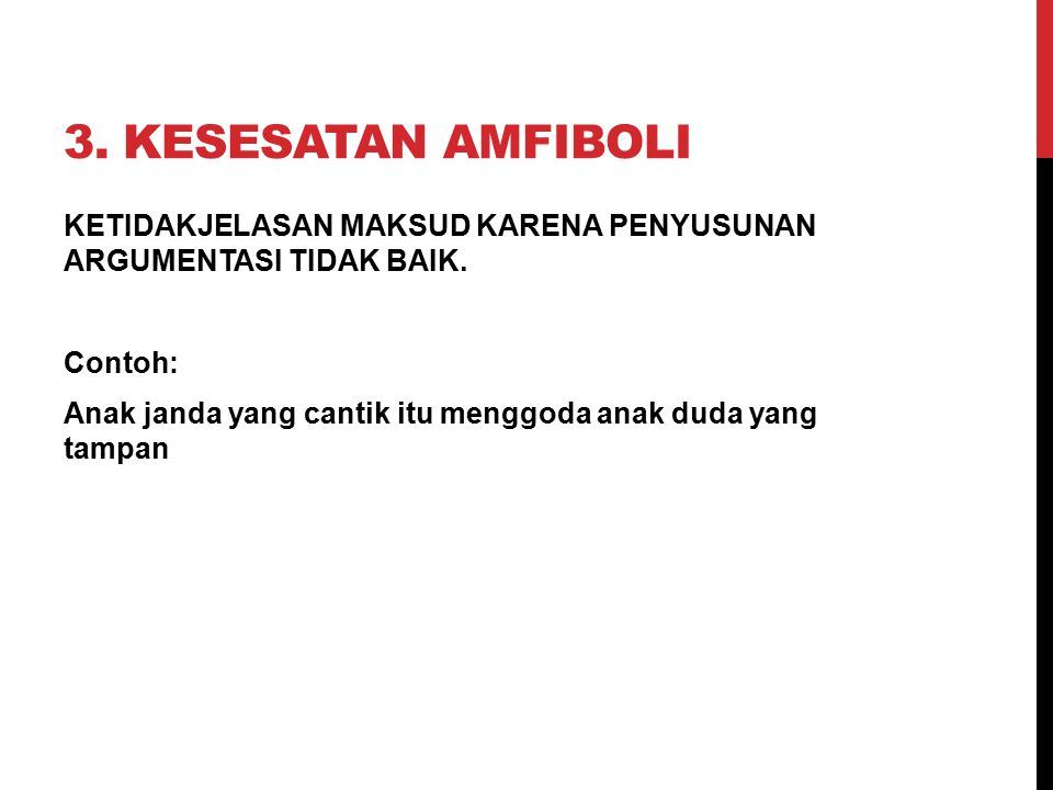 3. Kesesatan Amfiboli