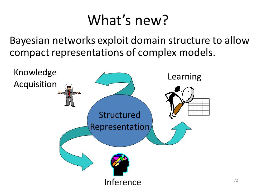 What's new Bayesian networks exploit domain structure to allow