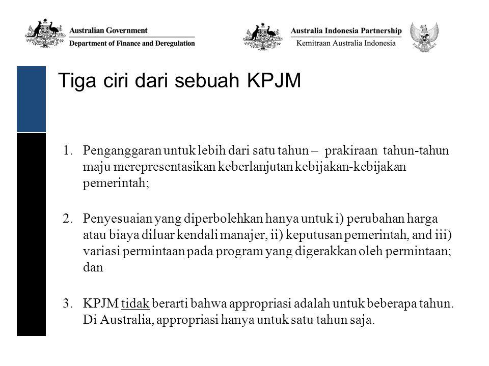 Tiga ciri dari sebuah KPJM