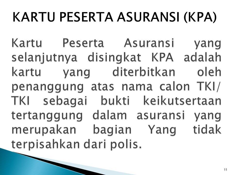 KARTU PESERTA ASURANSI (KPA)