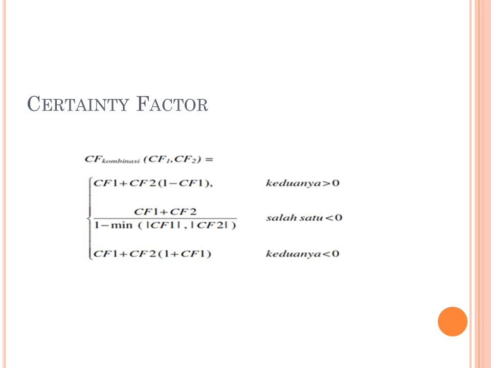 Certainty Factor
