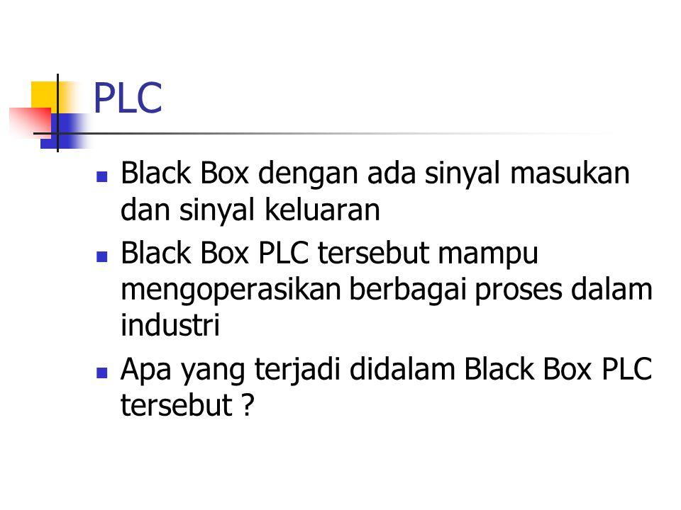 PLC Black Box dengan ada sinyal masukan dan sinyal keluaran