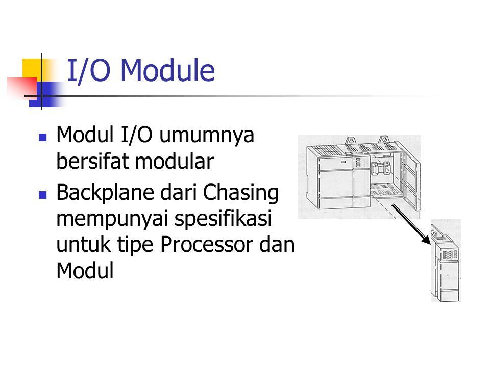 I/O Module Modul I/O umumnya bersifat modular