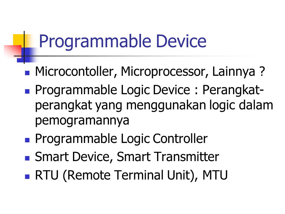 Programmable Device Microcontoller, Microprocessor, Lainnya