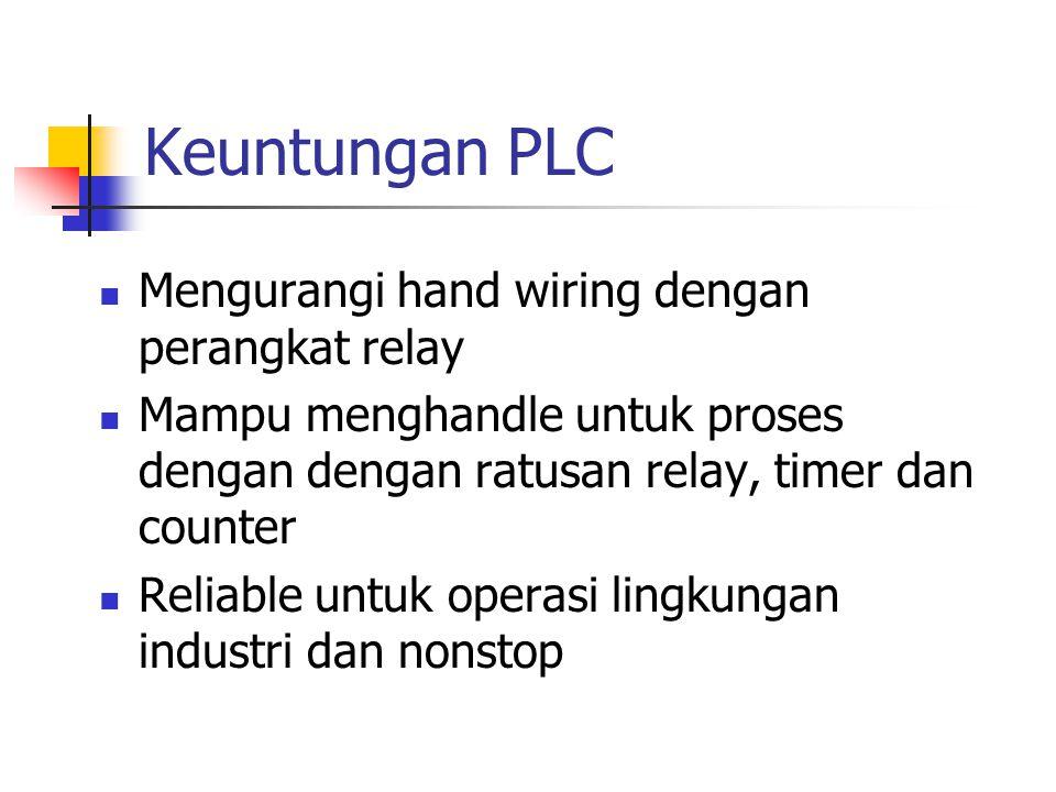 Keuntungan PLC Mengurangi hand wiring dengan perangkat relay