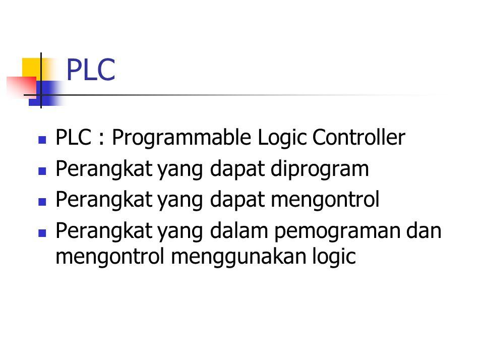 PLC PLC : Programmable Logic Controller Perangkat yang dapat diprogram