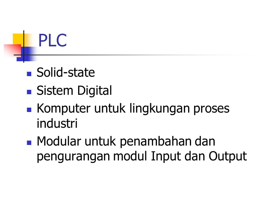 PLC Solid-state Sistem Digital