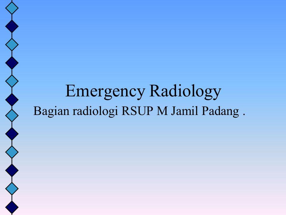 Bagian radiologi RSUP M Jamil Padang .