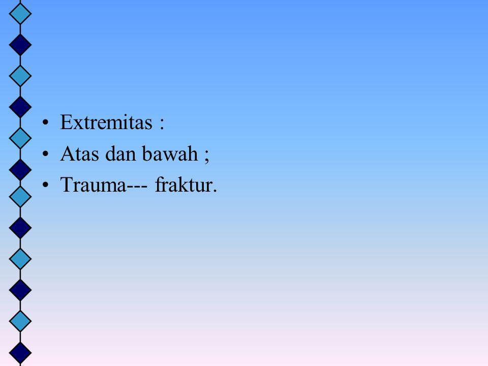 Extremitas : Atas dan bawah ; Trauma--- fraktur.