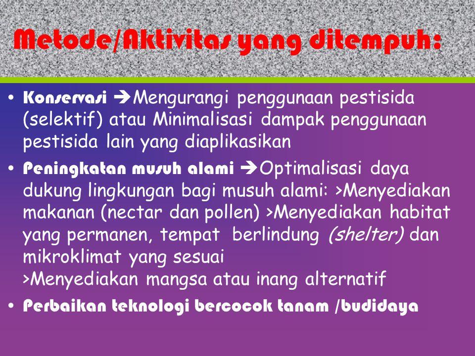 Metode/Aktivitas yang ditempuh: