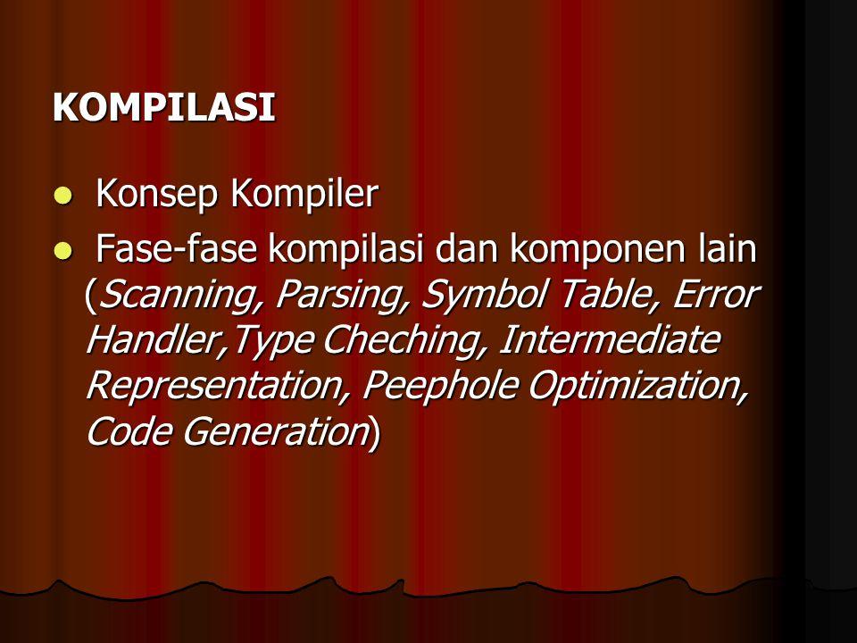 KOMPILASI Konsep Kompiler.