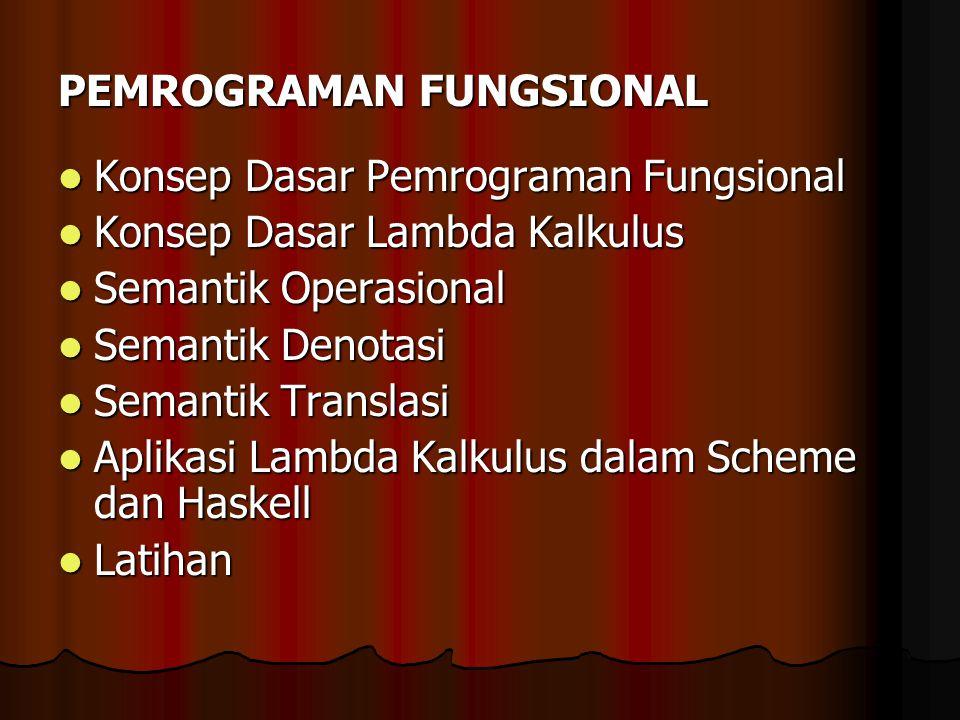 PEMROGRAMAN FUNGSIONAL