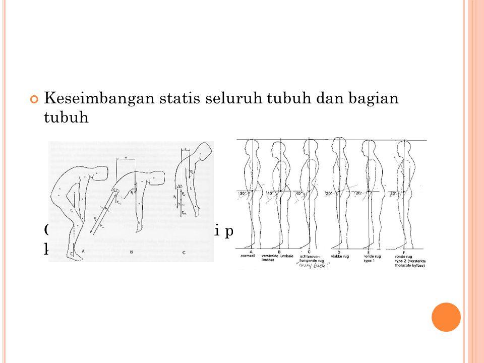 Keseimbangan statis seluruh tubuh dan bagian tubuh