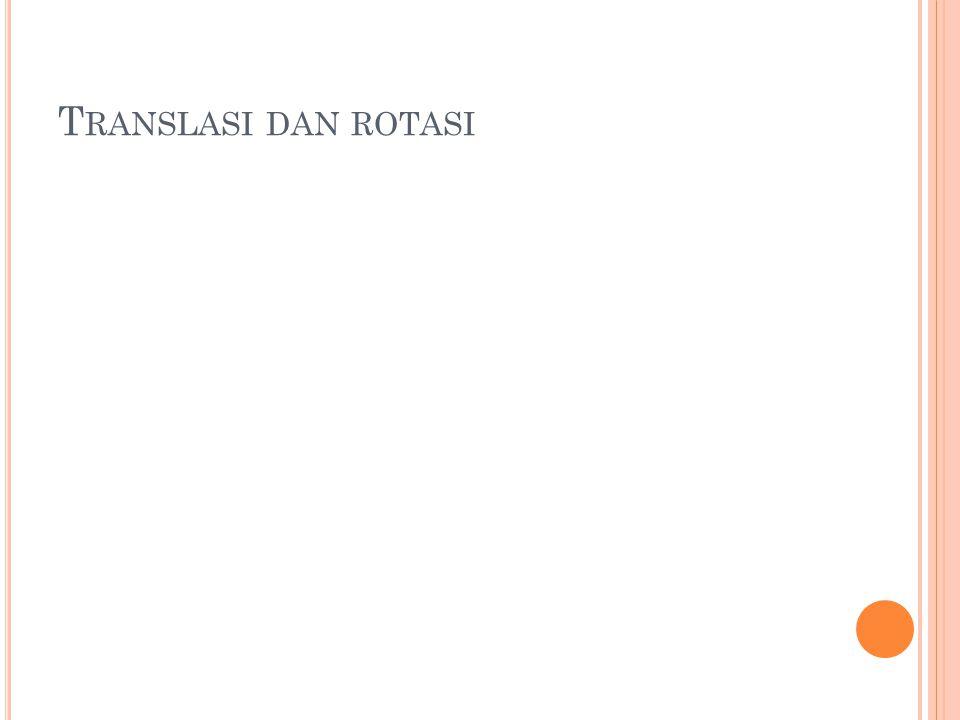 Translasi dan rotasi