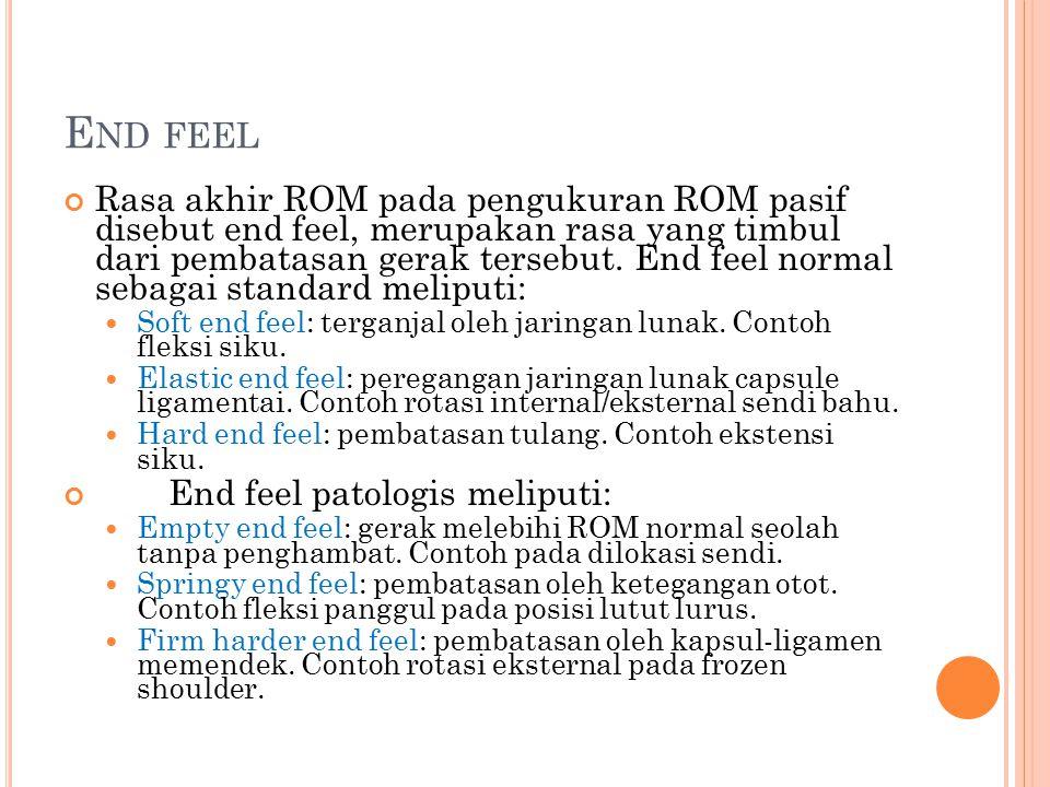 End feel