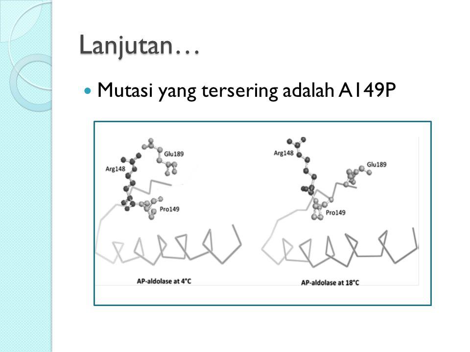 Lanjutan… Mutasi yang tersering adalah A149P