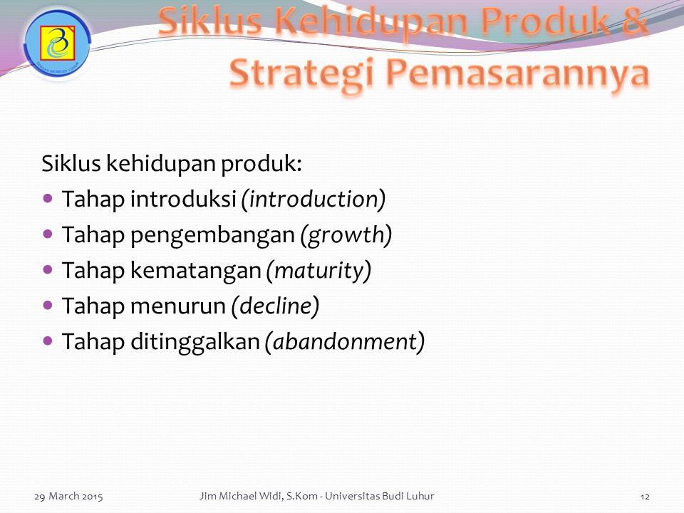 Siklus Kehidupan Produk & Strategi Pemasarannya