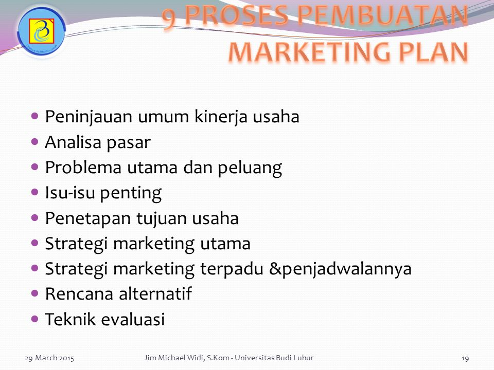 9 PROSES PEMBUATAN MARKETING PLAN