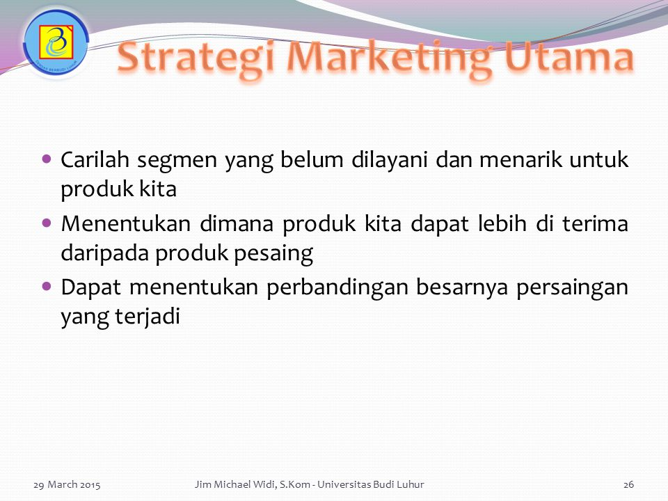 Strategi Marketing Utama