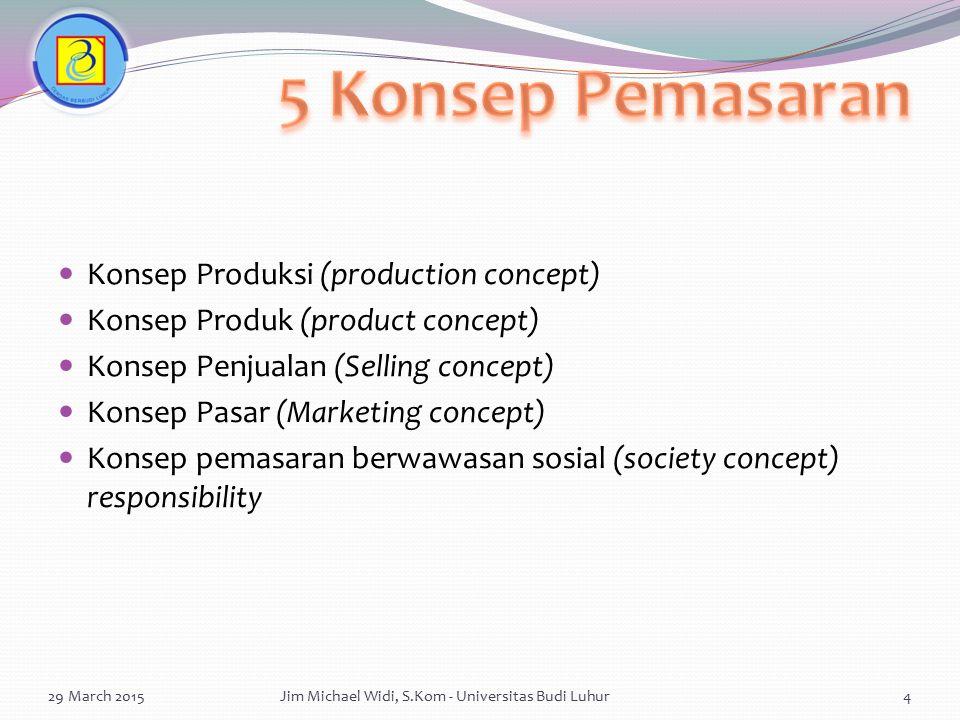 5 Konsep Pemasaran Konsep Produksi (production concept)