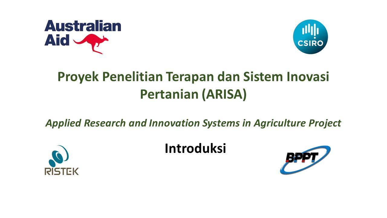 Proyek Penelitian Terapan dan Sistem Inovasi Pertanian (ARISA)