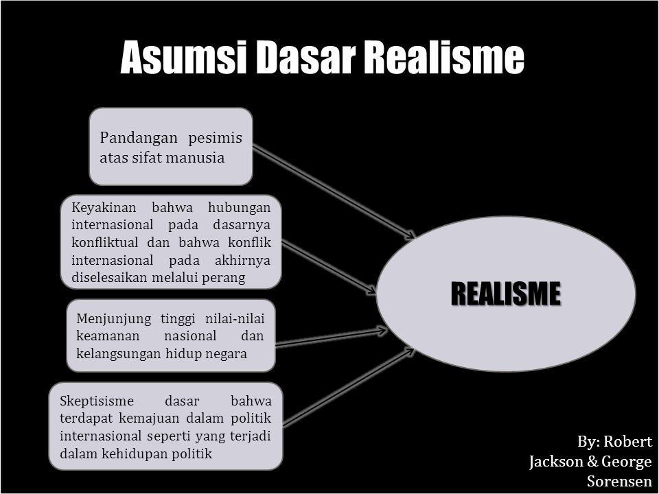 Asumsi Dasar Realisme REALISME Pandangan pesimis atas sifat manusia