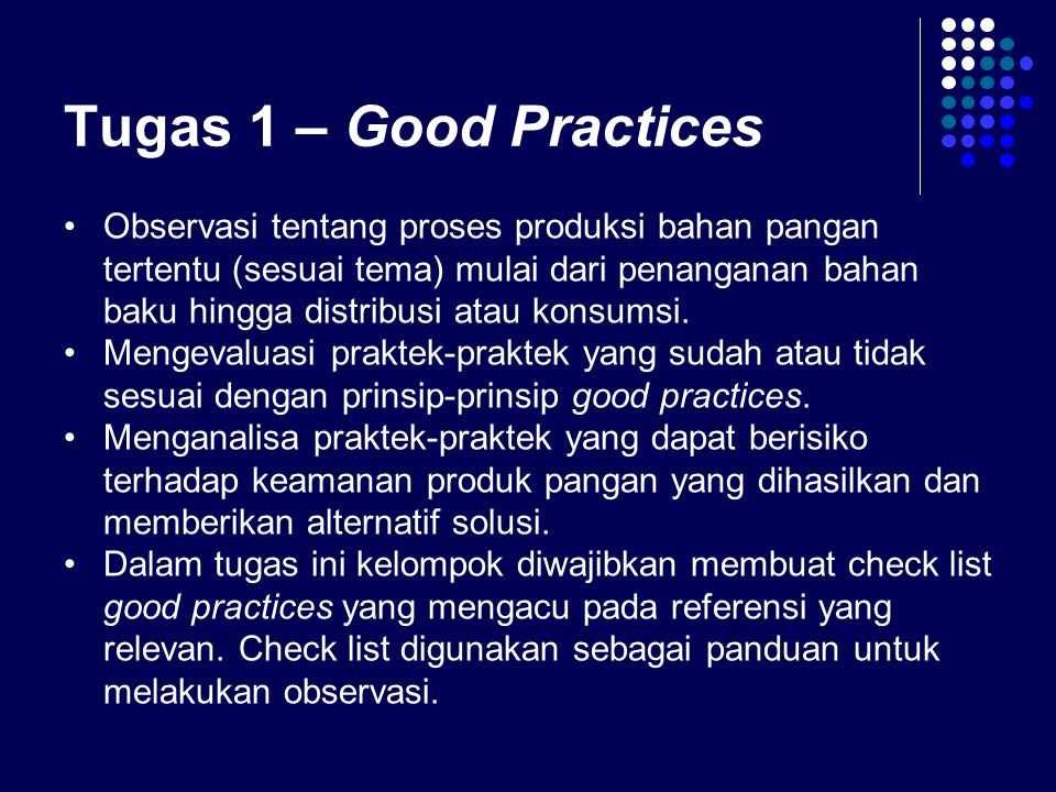 Tugas 1 – Good Practices