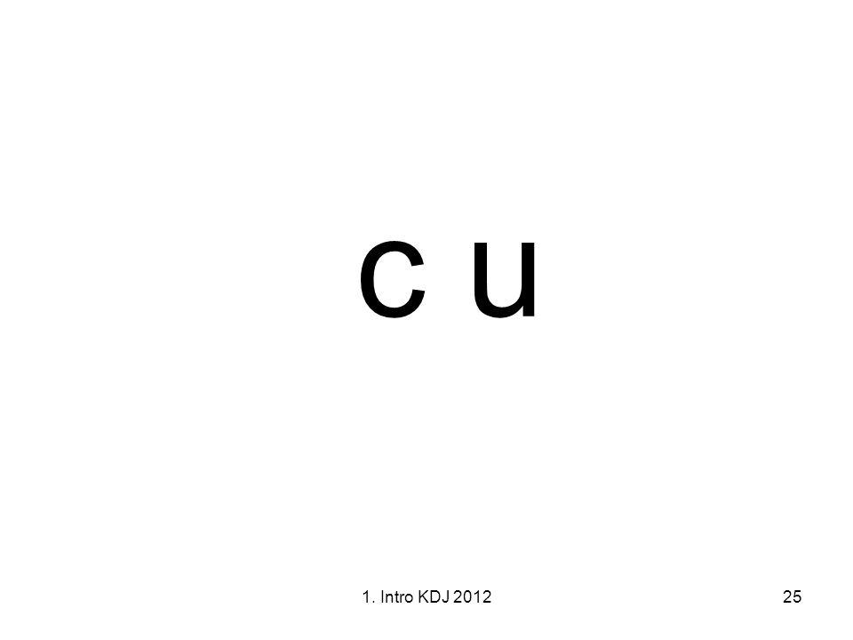 c u 1. Intro KDJ 2012 1I. Intro KDJK 2012