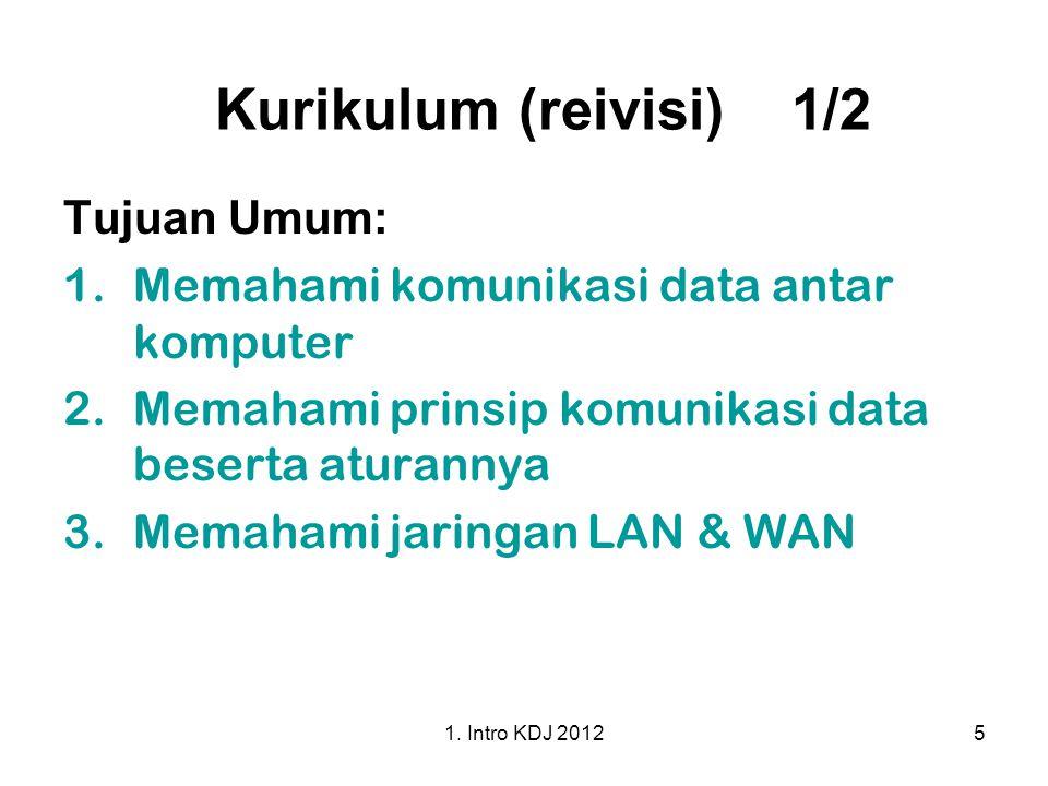 Kurikulum (reivisi) 1/2 Tujuan Umum: