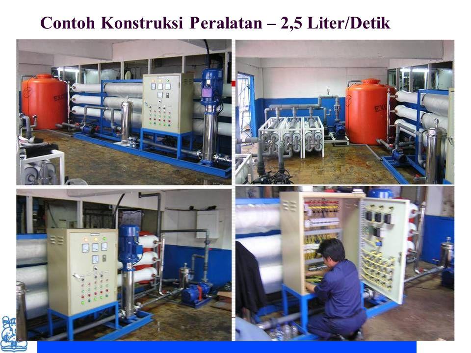Contoh Konstruksi Peralatan – 2,5 Liter/Detik