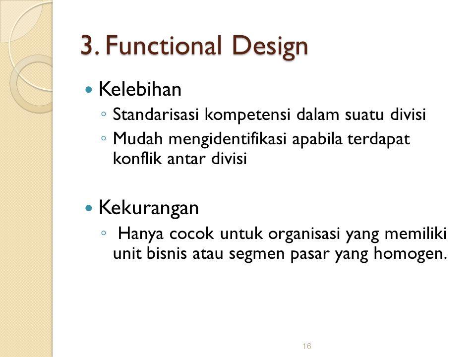 3. Functional Design Kelebihan Kekurangan
