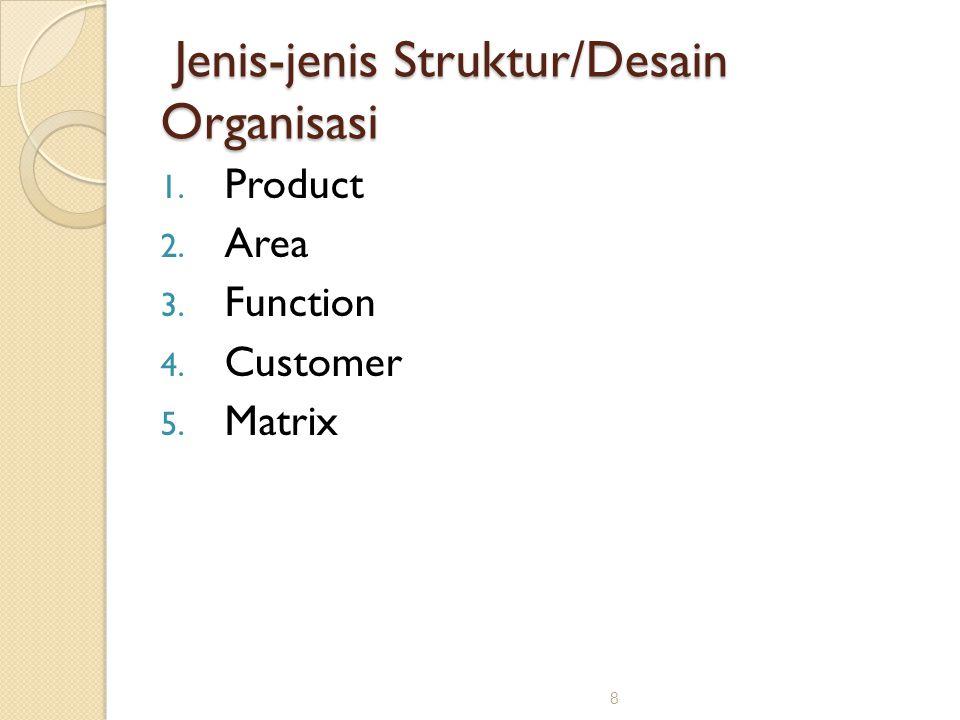 Jenis-jenis Struktur/Desain Organisasi
