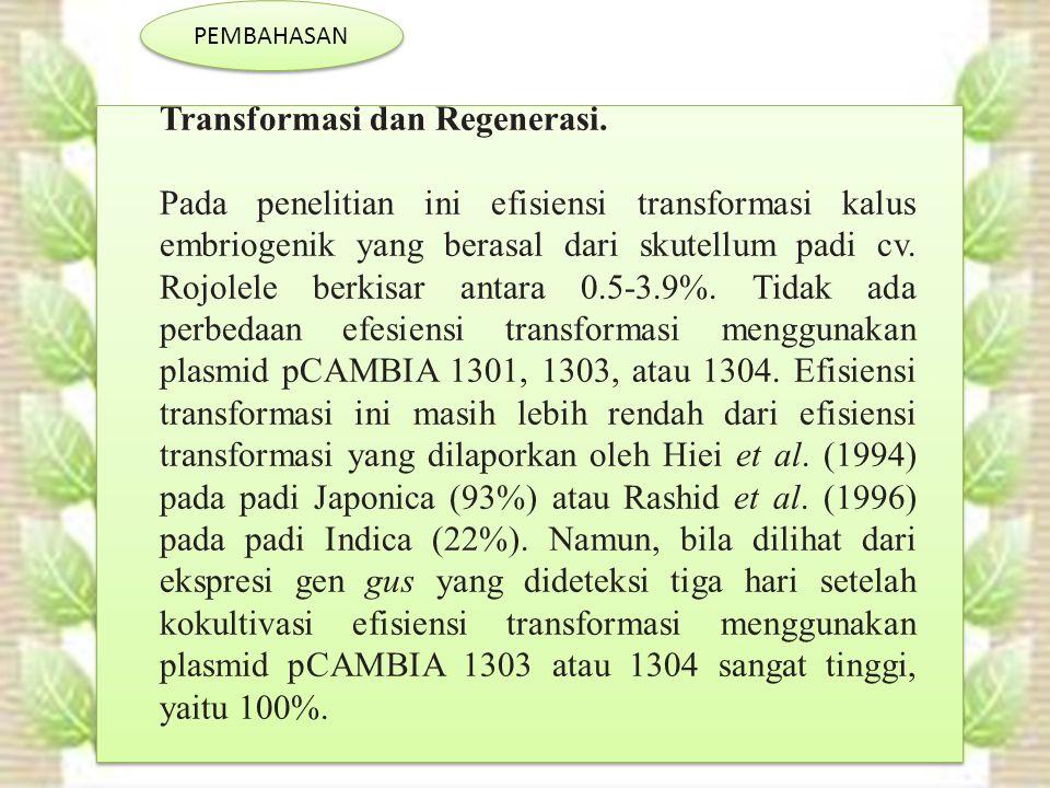 Transformasi dan Regenerasi.
