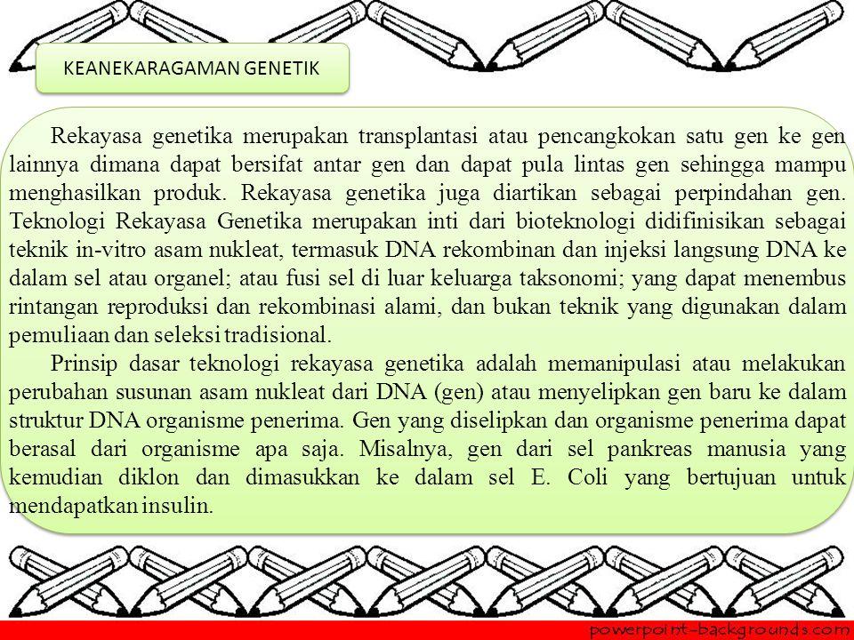KEANEKARAGAMAN GENETIK