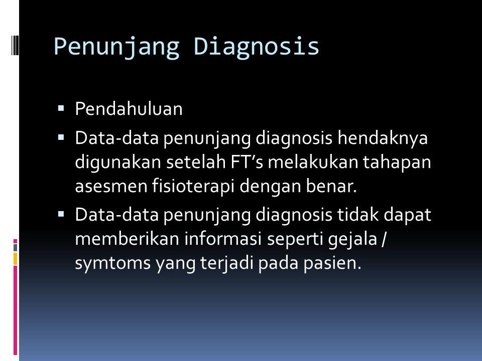 Penunjang Diagnosis Pendahuluan