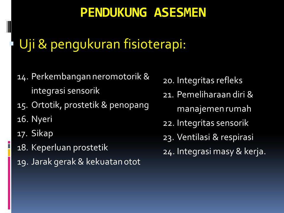 Uji & pengukuran fisioterapi: