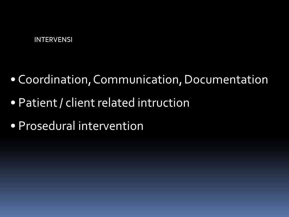 Coordination, Communication, Documentation