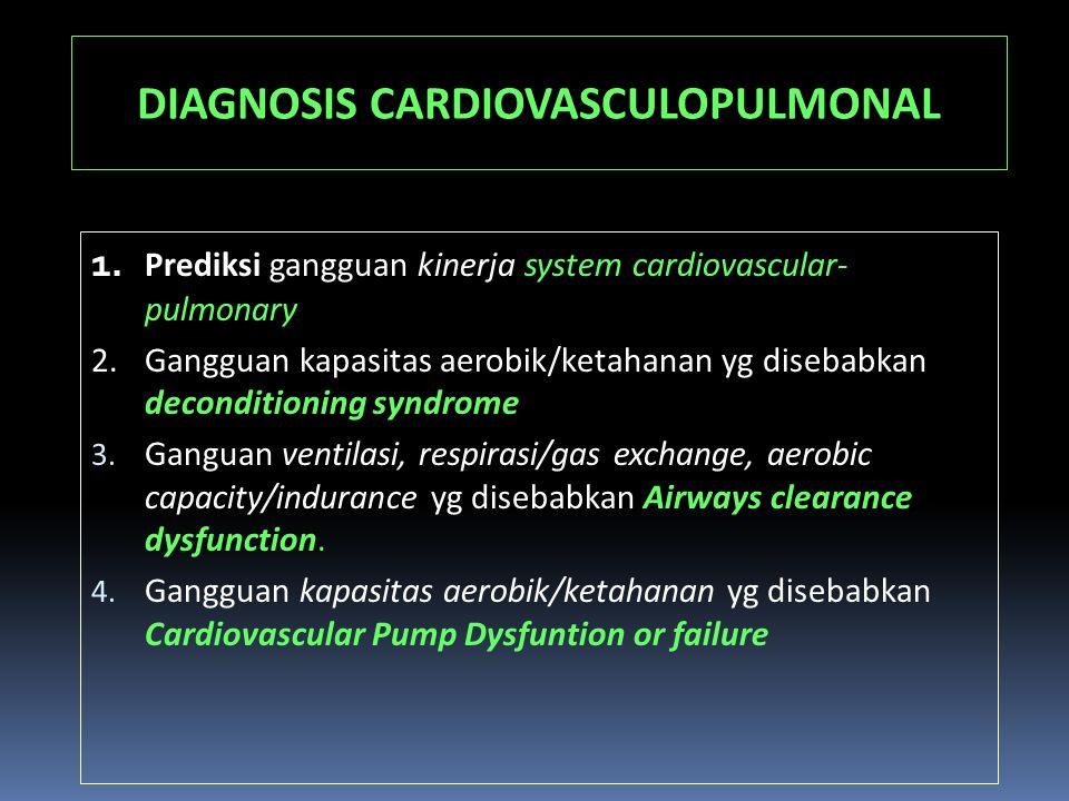 DIAGNOSIS CARDIOVASCULOPULMONAL