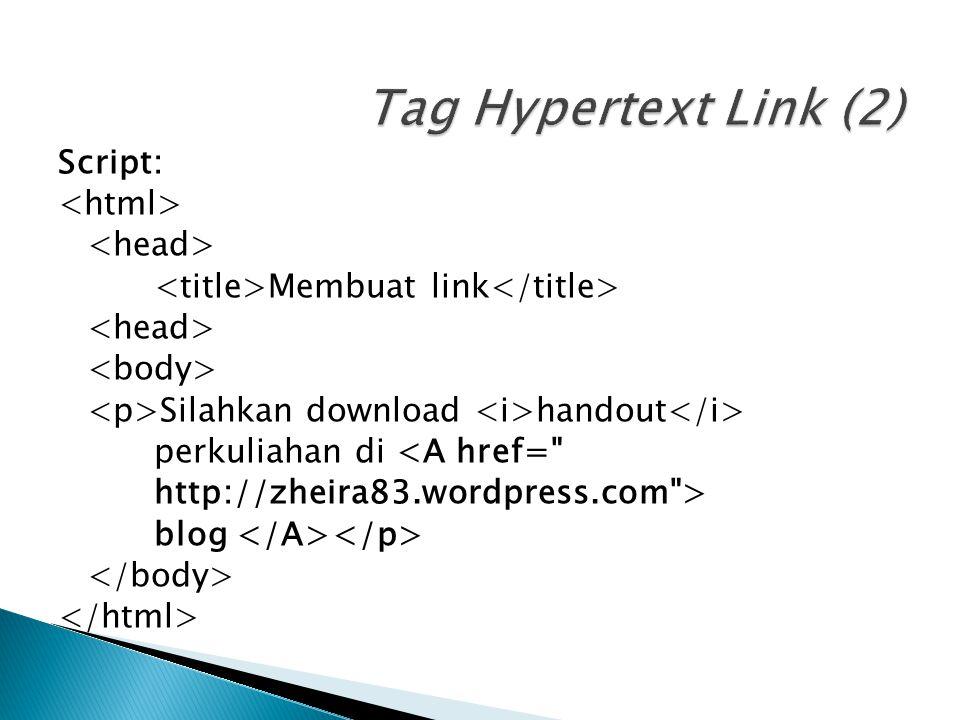 Tag Hypertext Link (2)