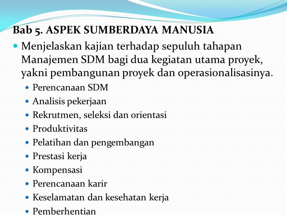 Bab 5. ASPEK SUMBERDAYA MANUSIA