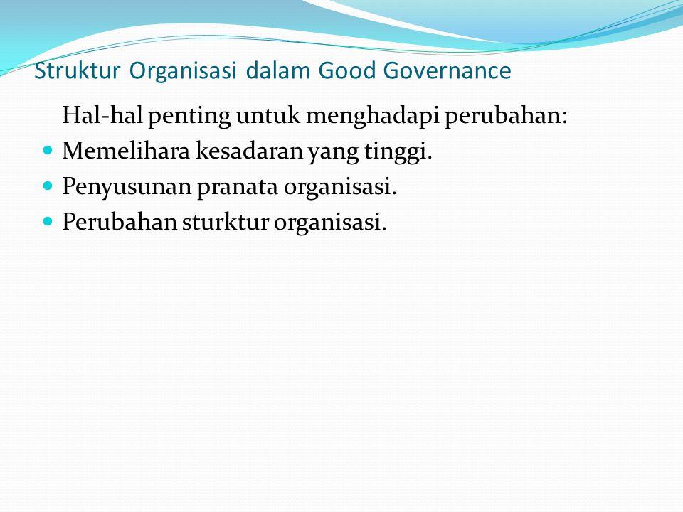 Struktur Organisasi dalam Good Governance