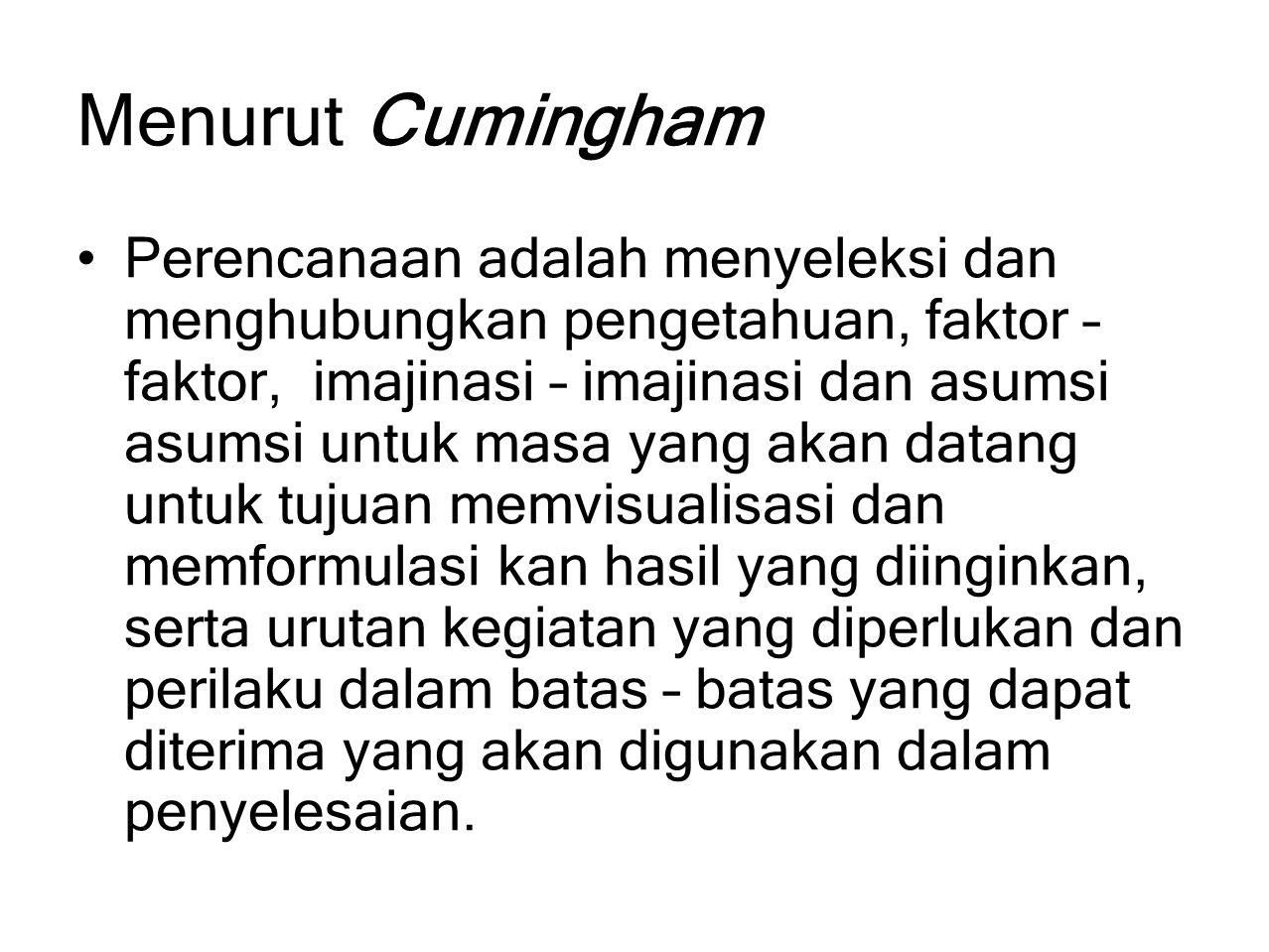 Menurut Cumingham