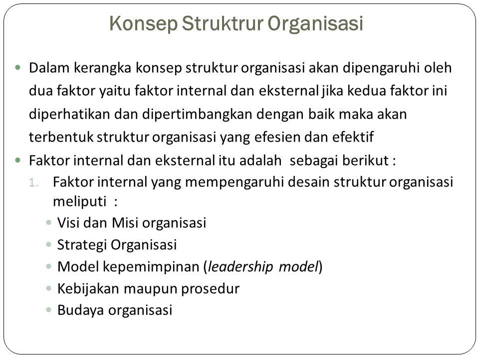 Konsep Struktrur Organisasi