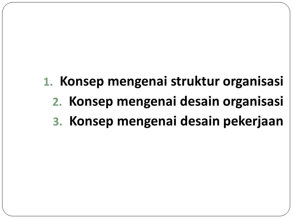 Konsep mengenai struktur organisasi